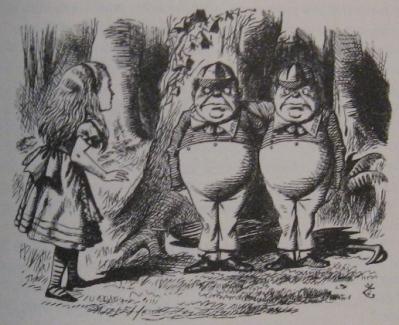 Alice meets Tweedledum & Tweedledee