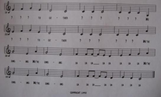"""""""We're Singing"""""""