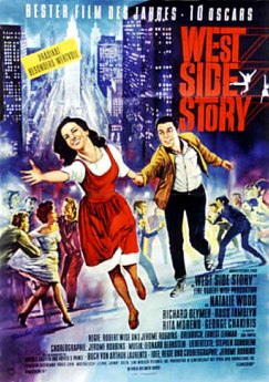 German poster for West Side Story