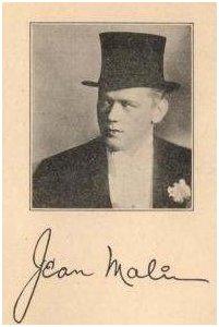 Gene (Jean) Malin autograph
