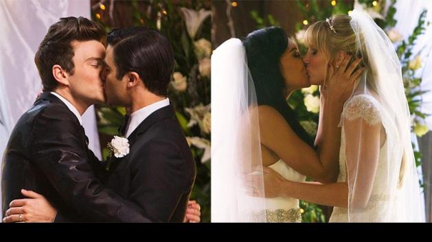 The Glee double wedding