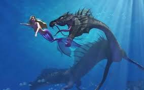 mermaid and dragon