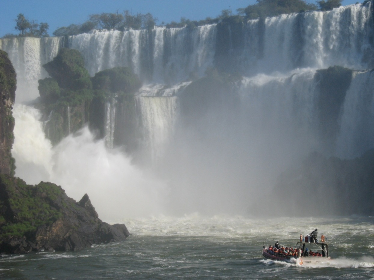 You can take a boat ride practically into the falls. It's very loud and very wet and very exhilarating.