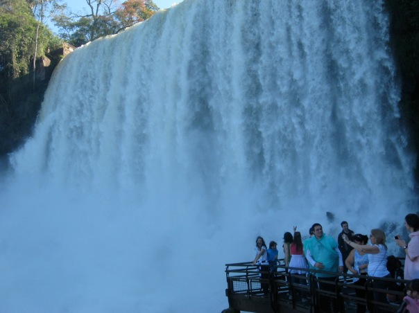 You don't need to get in a boat to get very close to the falls though.