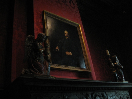 Major priceless paintings line the walls of the study, but pride of place of course goes to the portrait of J. P. Morgan himself