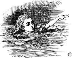Alice in pool of tears