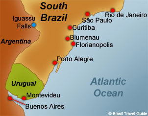 map-of-south-brazil