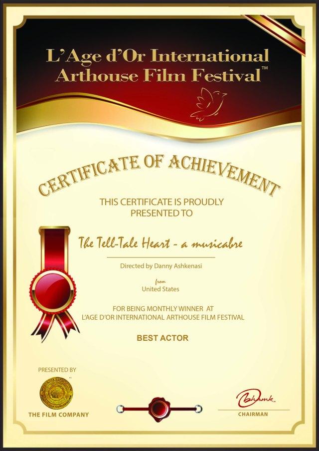 LAge dOr - Actor Award