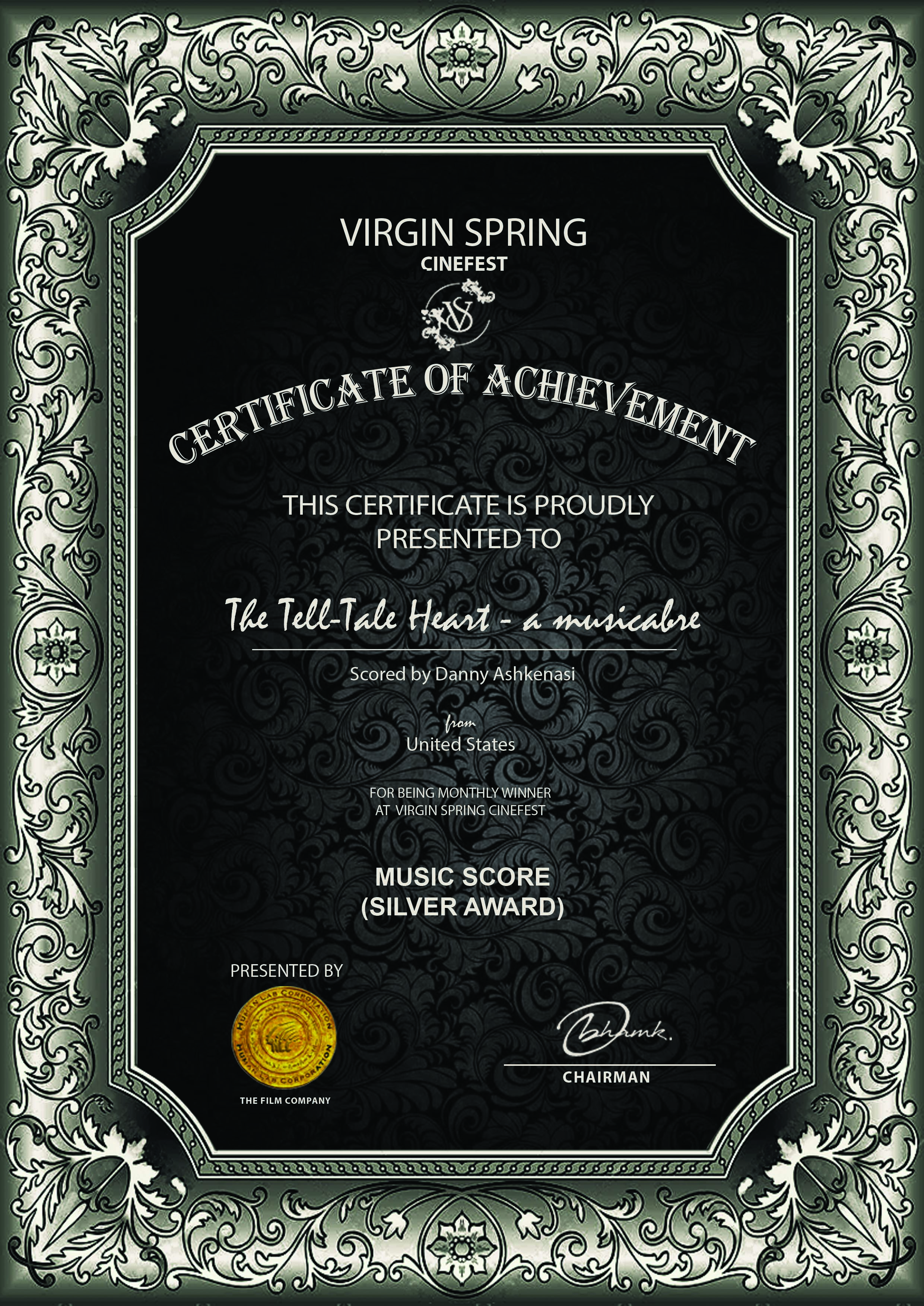 Virgin Spring Score The Tell-Tale Heart - a musicabre