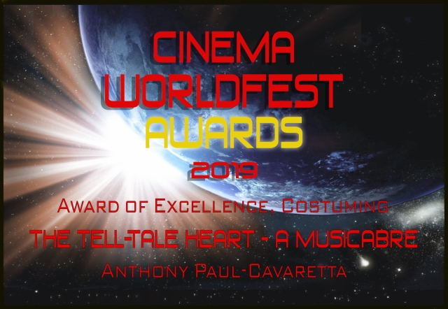 Cinema WorldFest Win The Tell-Tale Heart costuming