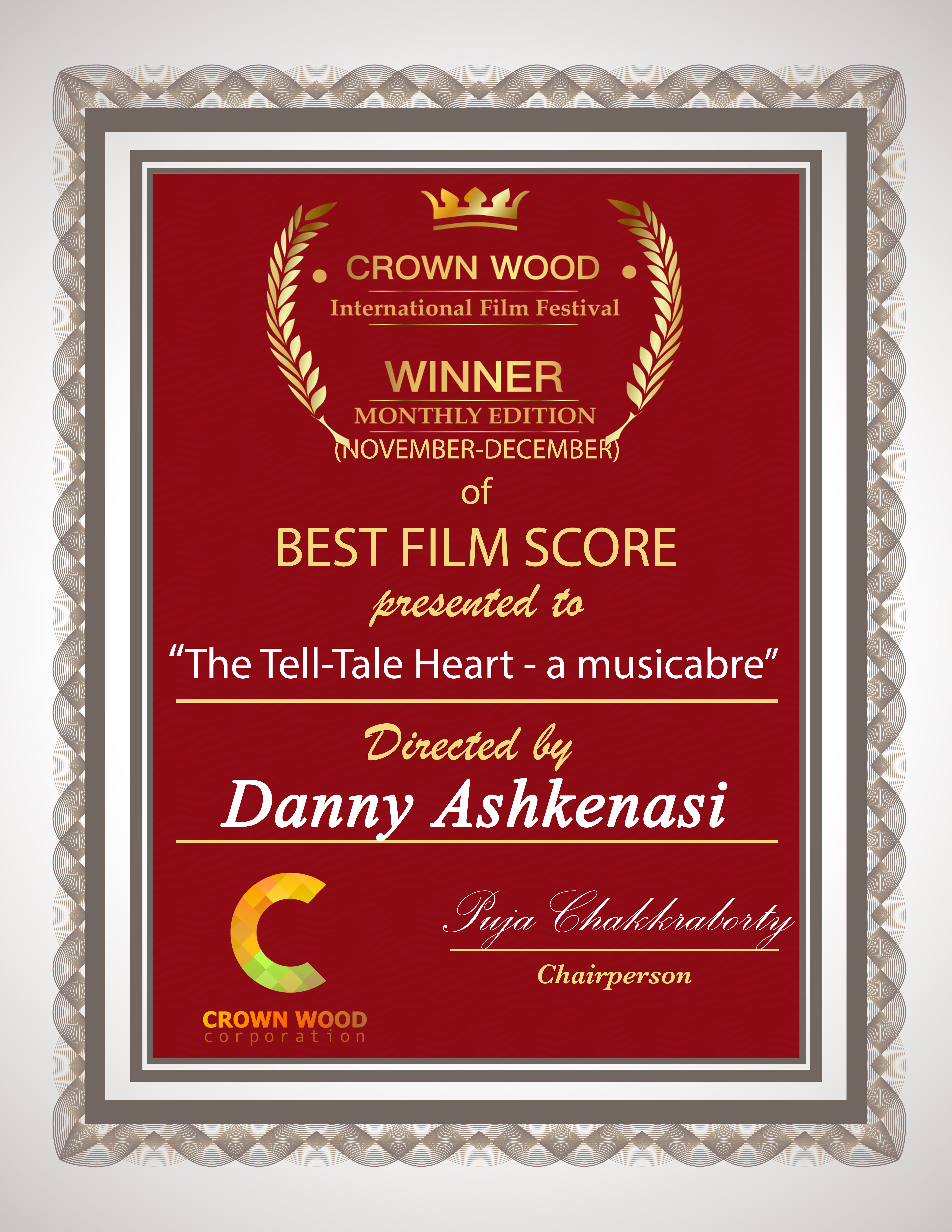 CW BEST FILM SCORE THE TELL