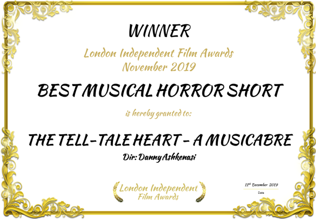 LIFF Best Musical Horror Short Nov 2019