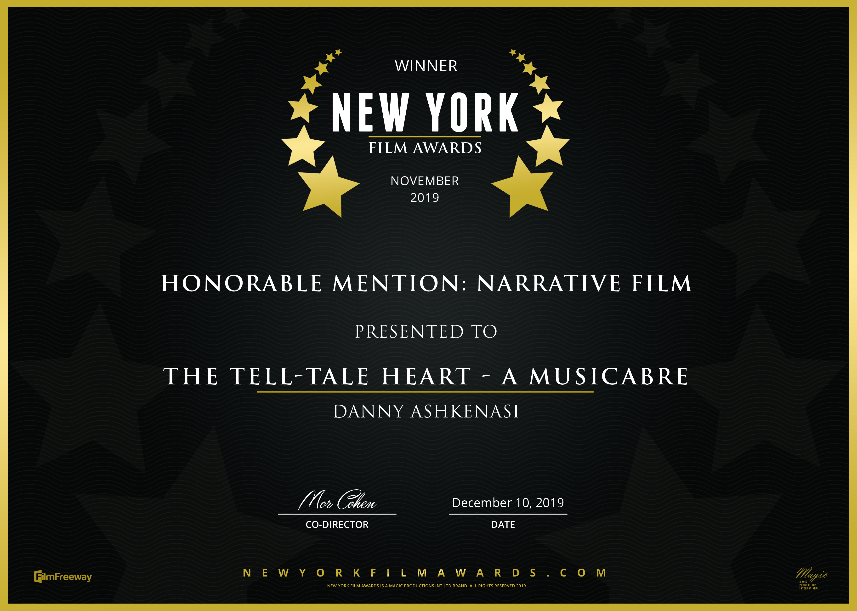 New York - Honorable - The Tell-Tale Heart - a musicabre