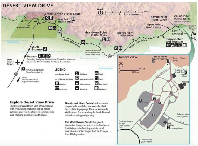 GC10-Desert View Drive Map