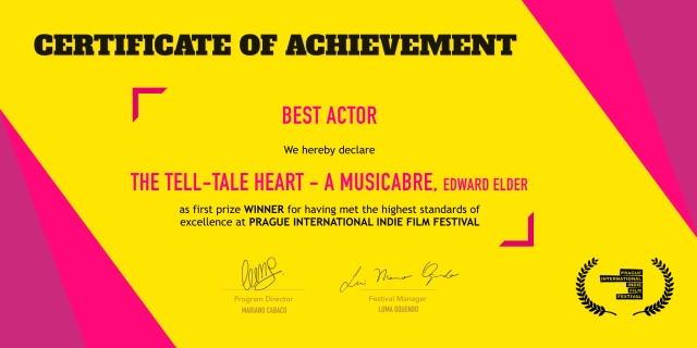 PIIFF - Certificate of Achievement - 2qrt 2020 - JPEG. BEST ACTOR