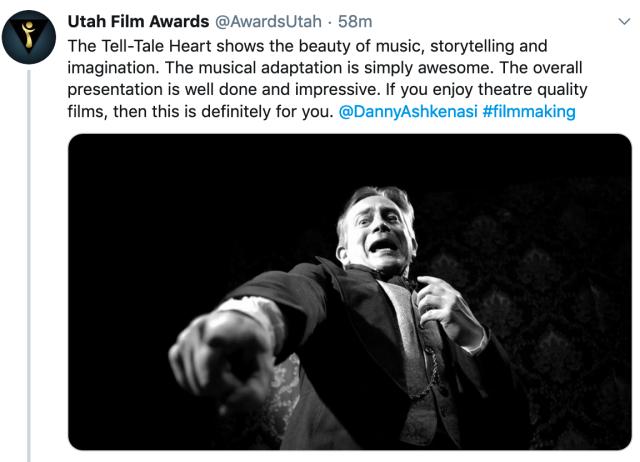 Tweet -Utah Film Awards